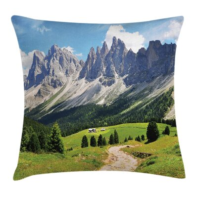 Pathway to Forest Alps Square Pillow Cover Size: 24 x 24