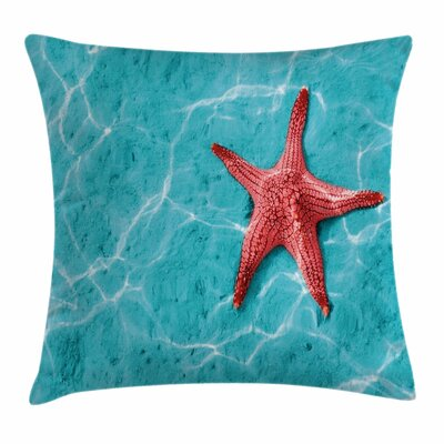 Starfish Decor Vivid Water Square Pillow Cover Size: 16 x 16