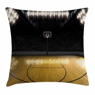 Teen Room Decor Empty Arena Square Pillow Cover Size: 16 x 16