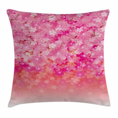 Cherry Bloom Tree Square Pillow Cover Size: 18 x 18