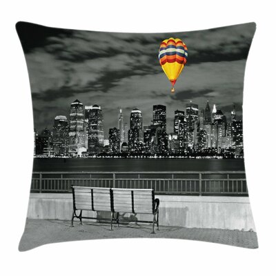 NYC Skyline Square Pillow Cover Size: 16 x 16
