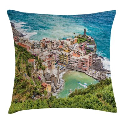 Coastal Decor Vernezza Italy Pillow Cover Size: 18 x 18
