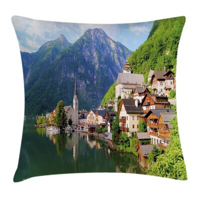 Rustic Alps Village Small Town Pillow Cover Size: 16 x 16