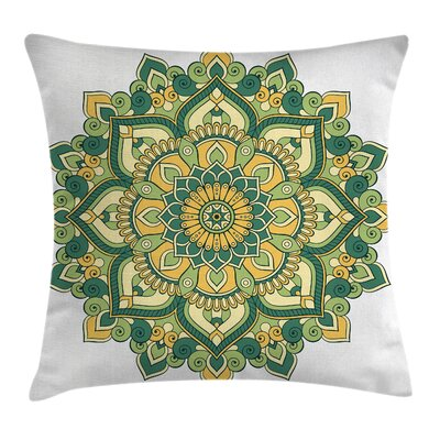 Indian Ethnic Dahlia Petals Pillow Cover Size: 16 x 16