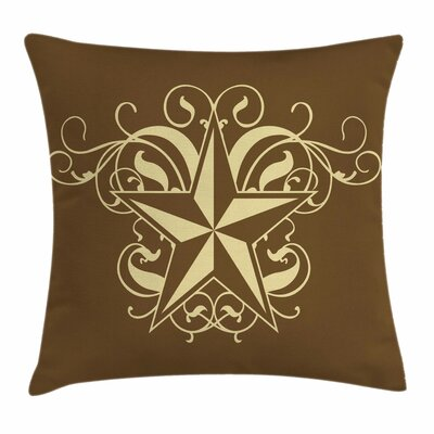 Primitive Country Baroque Swirl Square Pillow Cover Size: 24 x 24
