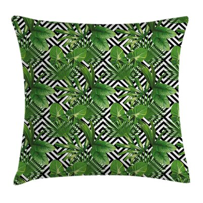 Abstract Modern Coconut Palm Pillow Cover Size: 16 x 16