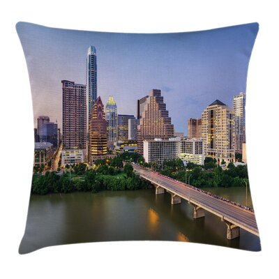 USA Austin Texas City Bridge Pillow Cover Size: 20 x 20