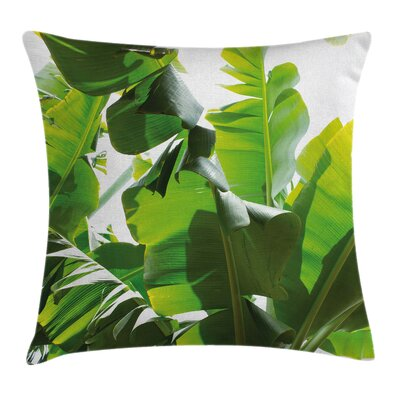 Banana Leaf Island Tranquility Pillow Cover Size: 24 x 24