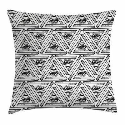 Eye All Seeing Eye Pyramidal Square Pillow Cover Size: 20 x 20