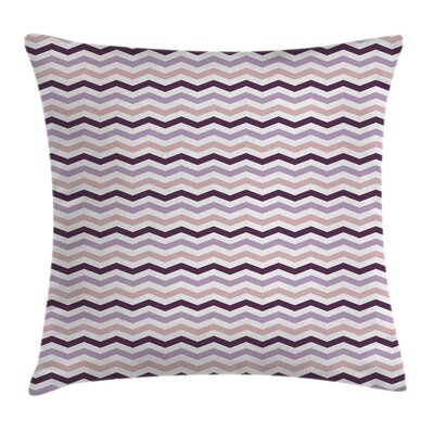 Zig Zag Waves Square Pillow Cover Size: 16 x 16