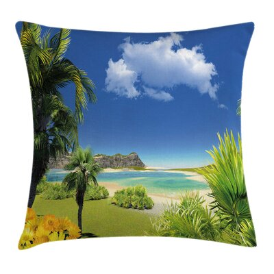 Beach Paradise Palms Island Pillow Cover Size: 20 x 20