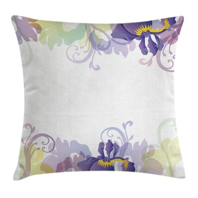 Garden Classic Petals Pastel Square Pillow Cover Size: 24 x 24