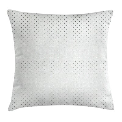 Vintage  Polka Dots Square Pillow Cover Size: 16 x 16