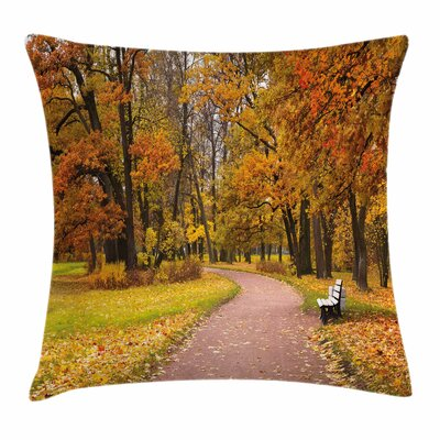 Fall Decor Idyllic Rural Park Square Pillow Cover Size: 16 x 16