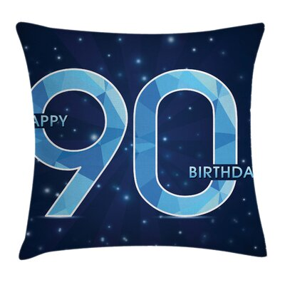 Star Geometric Ninety Square Pillow Cover Size: 24 x 24