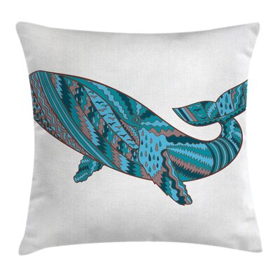 Underwater Humpback Whale Sea Pillow Cover Size: 18 x 18