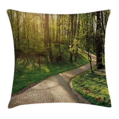 Outdoor Footpath Green Park Pillow Cover Size: 20 x 20