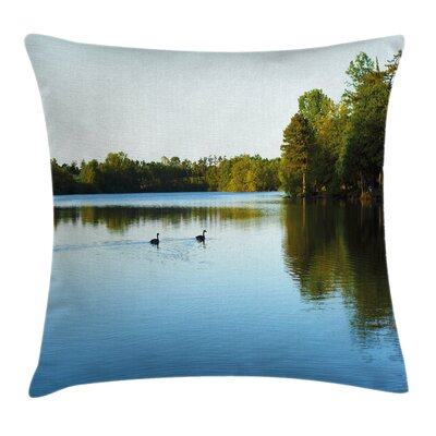 Outdoor Small Town Pillow Cover Size: 24 x 24