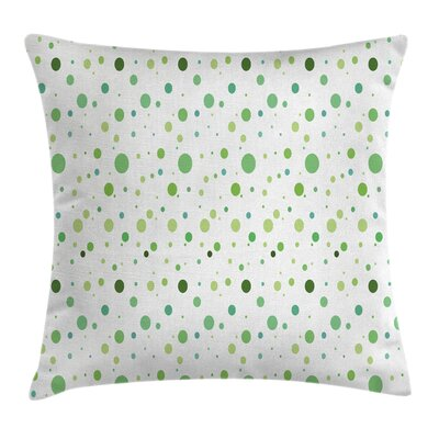 Vintage Toned Polka Dots Square Pillow Cover Size: 18 x 18