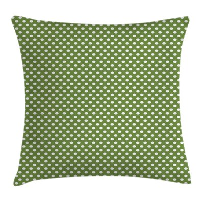 Simple Polka Dots Square Pillow Cover Size: 16 x 16