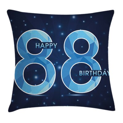 Surprise New Age Number Square Pillow Cover Size: 16 x 16