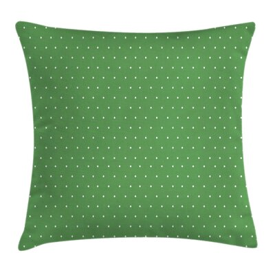 60s Retro Vintage Dots Square Pillow Cover Size: 24 x 24