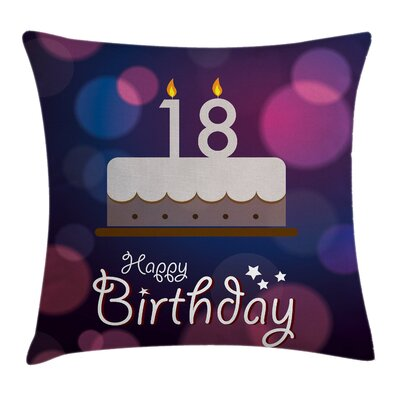 Cartoon Birthday Party Square Pillow Cover Size: 16 x 16