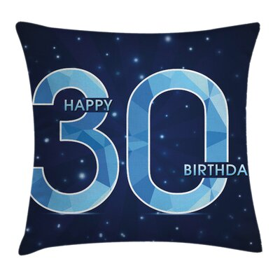Modern Birthday Image Pillow Cover Size: 18 x 18