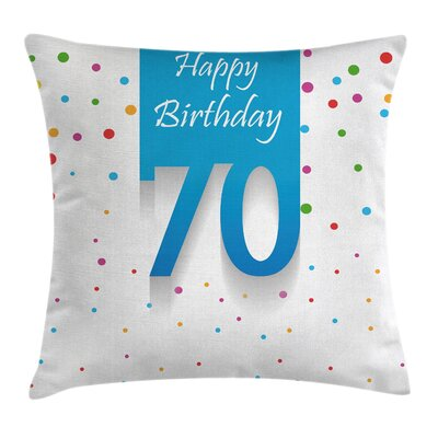 Birthday Polka Dots Square Pillow Cover Size: 24 x 24
