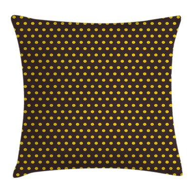 Vintage Home Decor Retro Dots Pillow Cover Size: 18 x 18