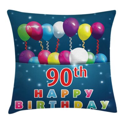 Fun Joyous Surprise Balloons Square Pillow Cover Size: 16 x 16