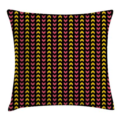 Chevron Ethnic Aztec Zigzag Square Pillow Cover Size: 20 x 20