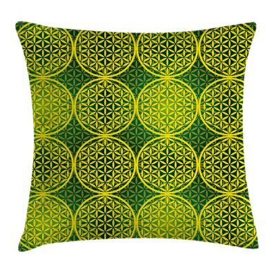 Modern Vivid Flower of Life Pillow Cover Size: 18 x 18