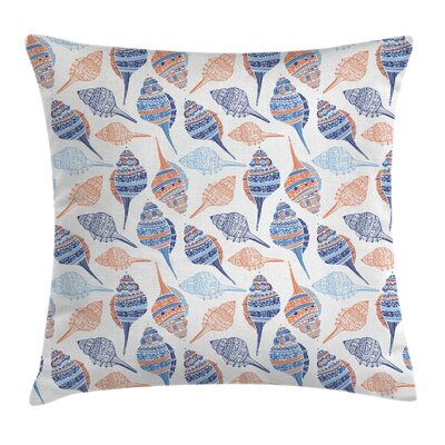 Ocean Abstract Marine Seashells Pillow Cover Size: 16 x 16