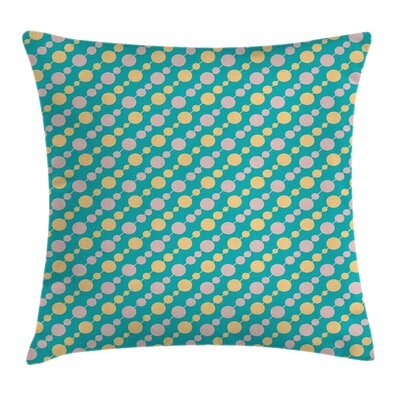 Retro Vintage Circles Rounds Pillow Cover Size: 18 x 18