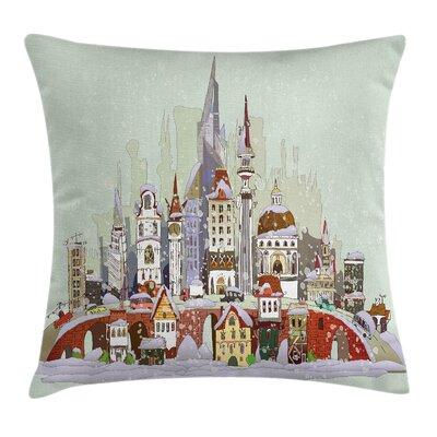 Xmas City Holiday Pillow Cover Size: 16 x 16