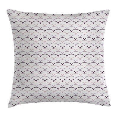 Fish Flake Like Square Pillow Cover Size: 24 x 24