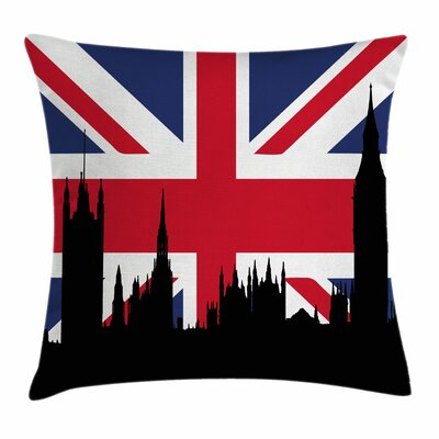 Union Jack Historic Urban UK Square Pillow Cover Size: 24 x 24