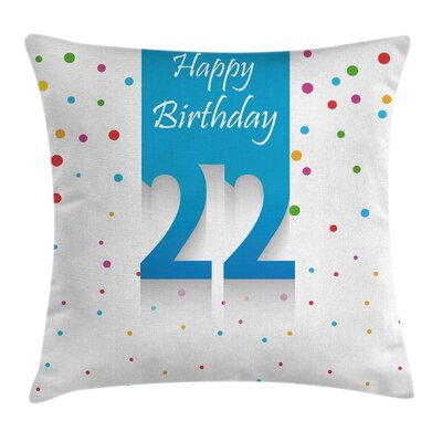 Celebration Confetti Square Pillow Cover Size: 16 x 16
