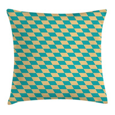 Geometric Vintage Chess Seem Pillow Cover Size: 16 x 16