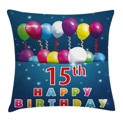 Festive Surprise Party Theme Square Pillow Cover Size: 18 x 18