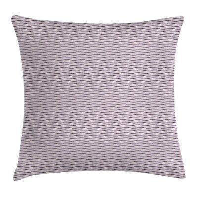 Sea Waves Inspired Artsy Square Pillow Cover Size: 16 x 16