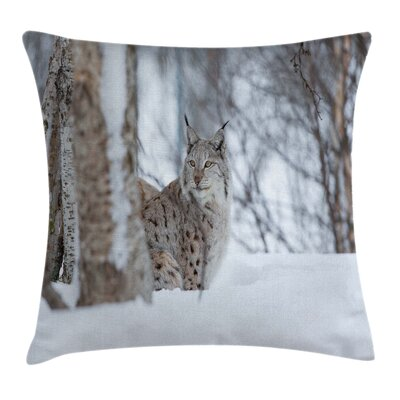 Animal European Lynx Wilderness Pillow Cover Size: 18 x 18