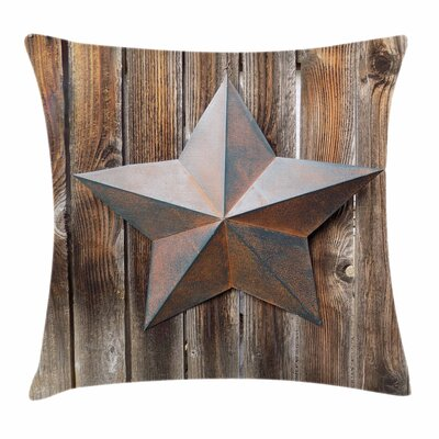 Primitive Country Vintage Star Square Pillow Cover Size: 18 x 18