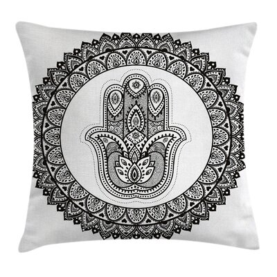 Indian Ancient Henna Art Style Pillow Cover Size: 16 x 16