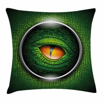 Eye Vibrant Realistic Reptile Square Pillow Cover Size: 18 x 18