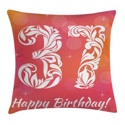 Floral Middle Age Classic Swirl Square Pillow Cover Size: 18 x 18