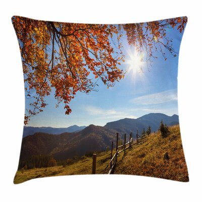Fall Decor Fallen Leaves Hills Square Pillow Cover Size: 16 x 16