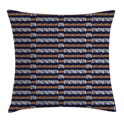 Ethnic Abstract Authentic Motif Square Pillow Cover Size: 18 x 18