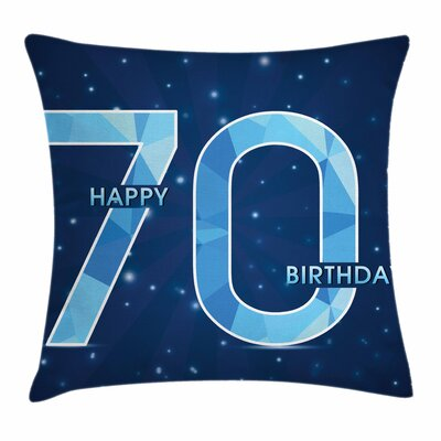 Stars Space Theme Party Square Pillow Cover Size: 24 x 24